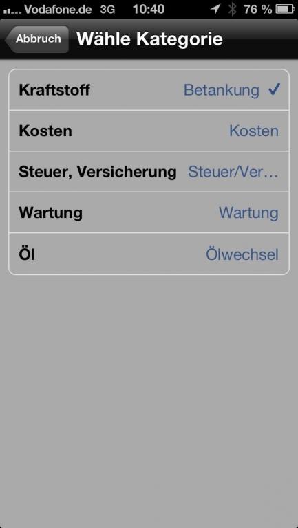 Alles unter Kontrolle: Die KFZ-App FuelLog