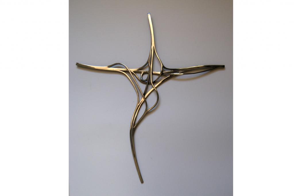 Auch das Kreuz Holz bei Garzweiler hat der Künstler als Skulptur verewigt
