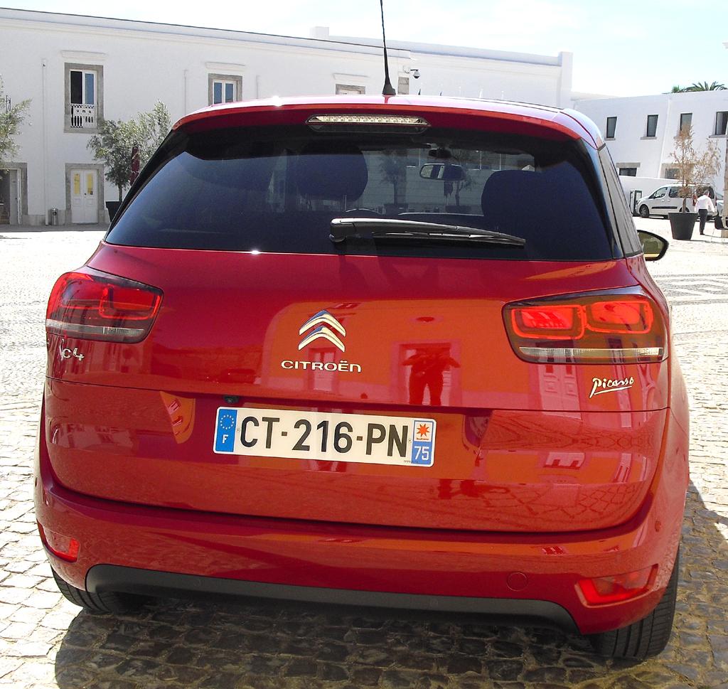 Citroën C4 Picasso: Blick auf die Heckpartie.