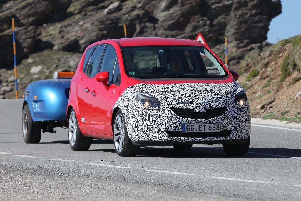 Erwischt: Erlkönig Opel Meriva Facelift – Neues Gesicht für den Minivan