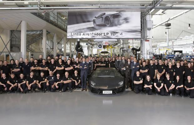 Lamborghini baut den 2000sten Aventador