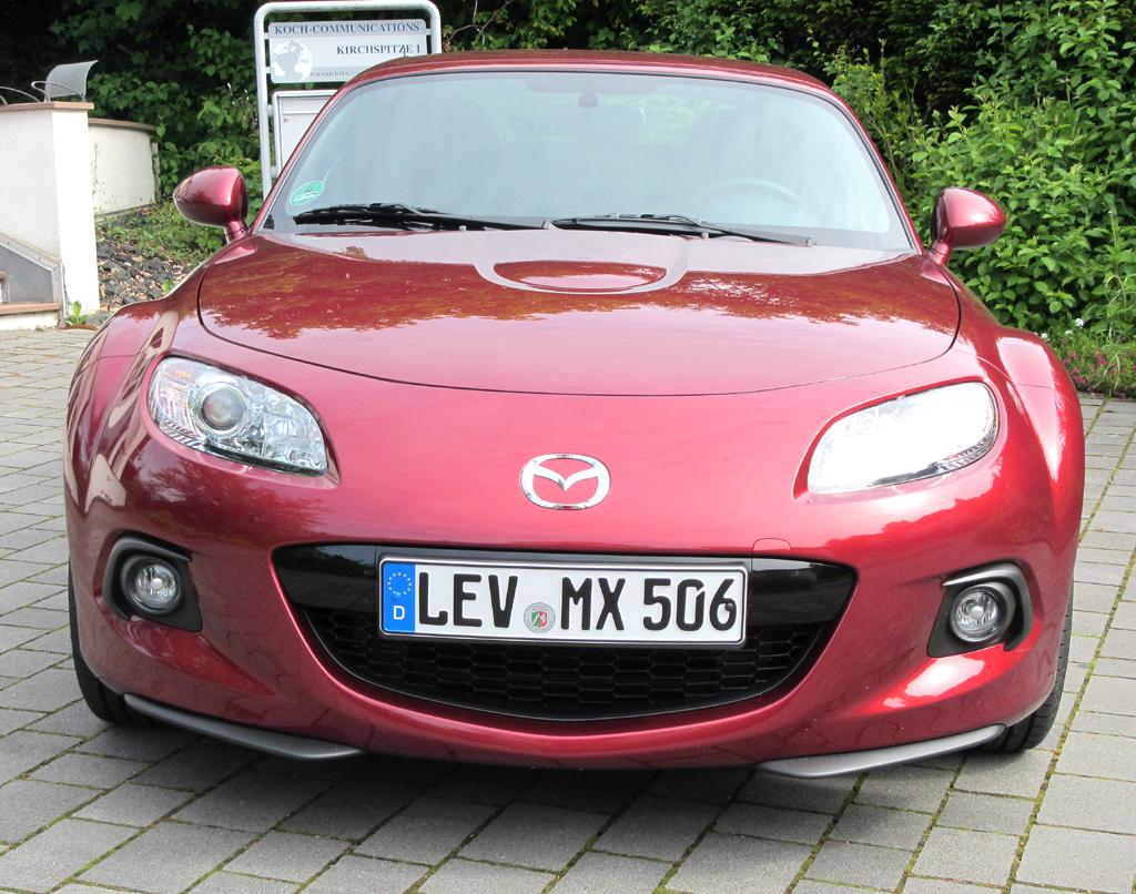 Mazda MX-5: Blick auf die Frontpartie.