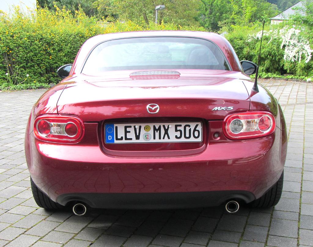 Mazda MX-5: Blick auf die Heckpartie.