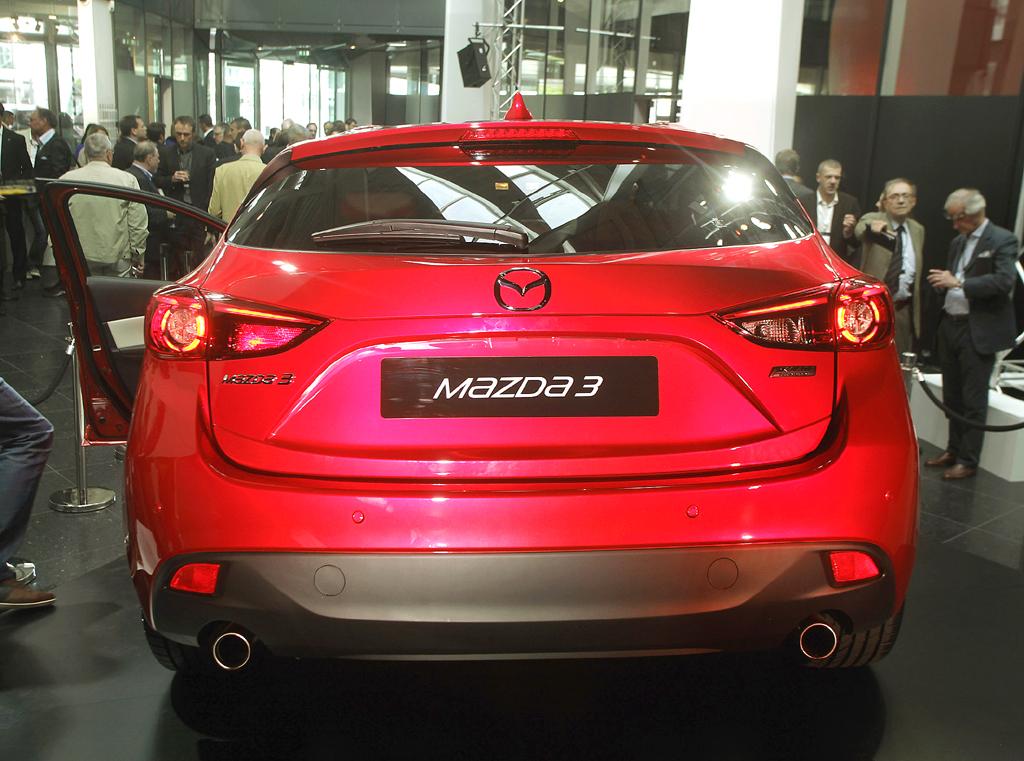 Mazda3: Blick auf die Heckpartie.