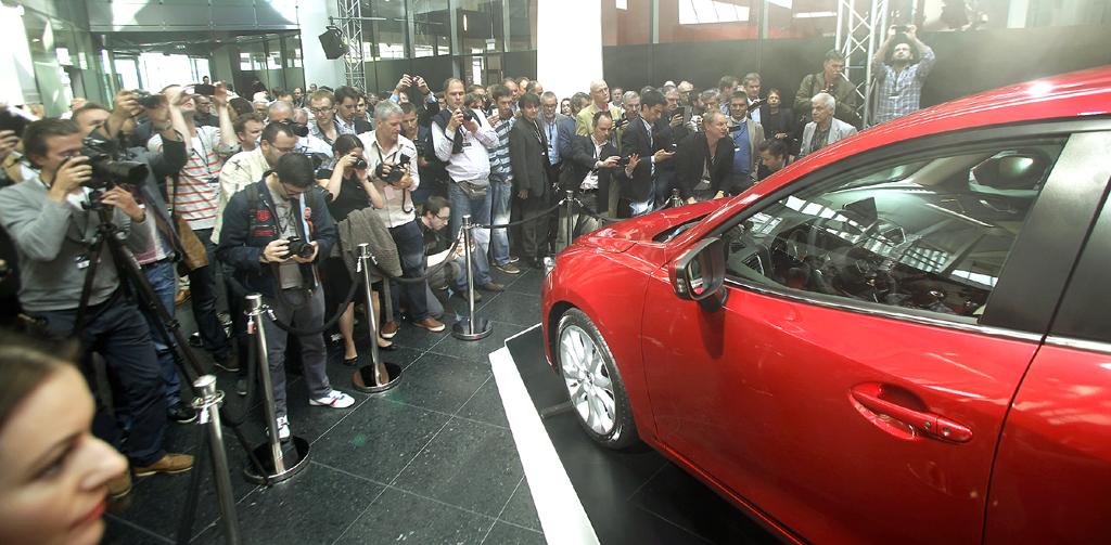 Mazda3: Neben London fand die Premiere noch in Sankt Petersburg, Istanbul, New York und Melbourne statt.
