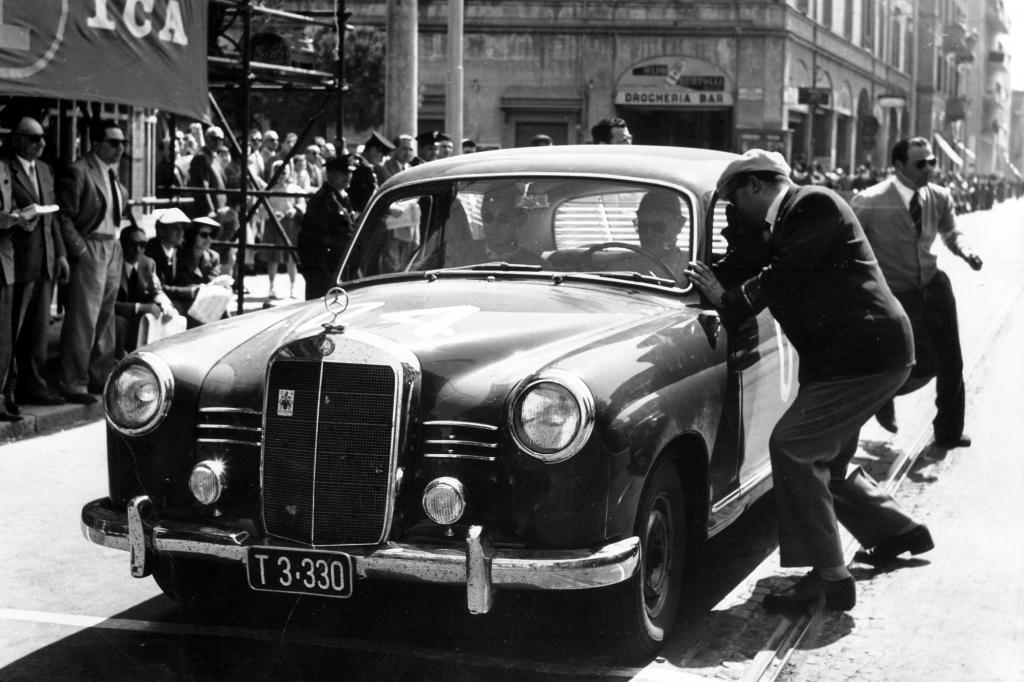 Mercedes Benz 180 D Sieger Mille Miglia in der Dieselklasse 1955