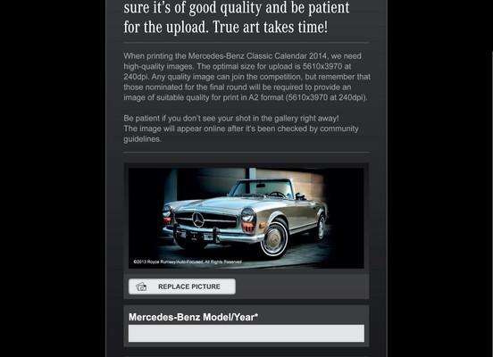 Mit eigenem Foto in den Mercedes-Benz Classic Kalender