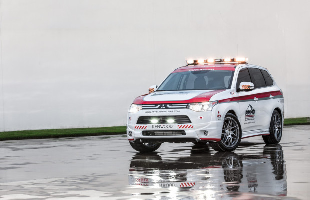 Mitsubishi Outlander als Safety Car am Pikes Peak