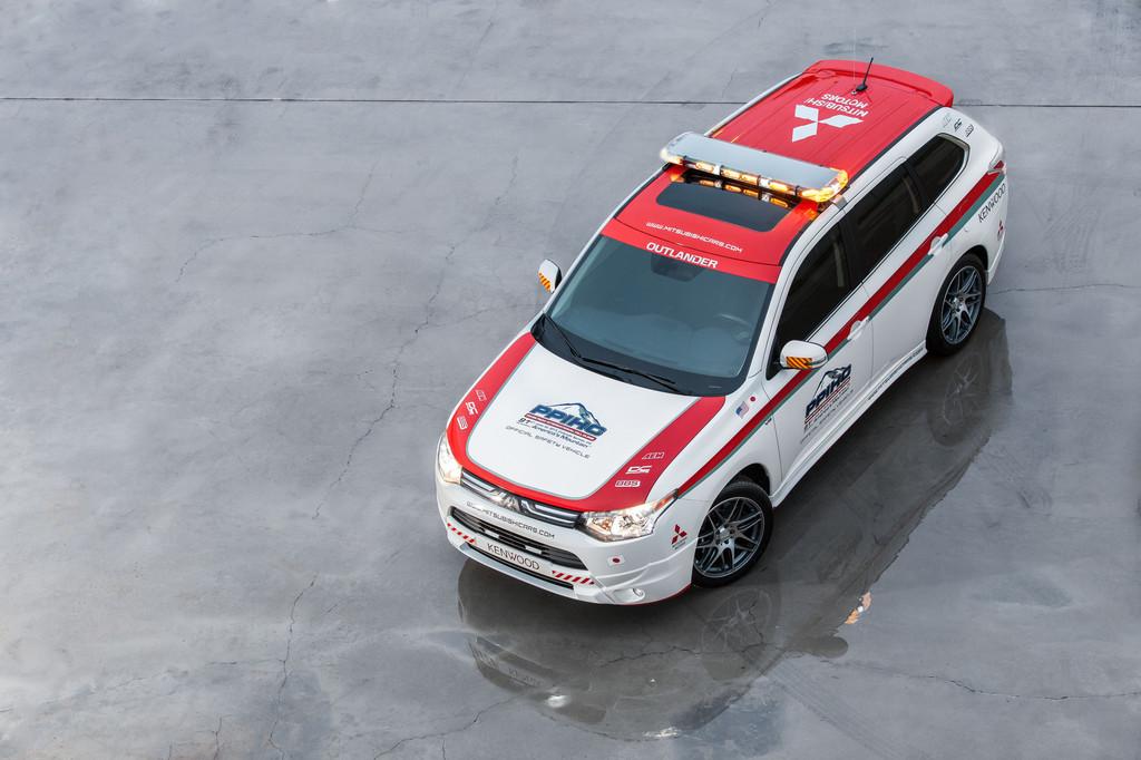 Mitsubishi Outlander als Safety Car am Pikes Peak