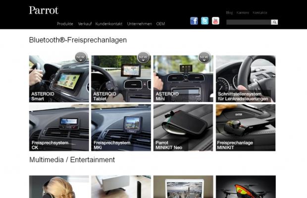 Navigations-App für Parrot-Geräte