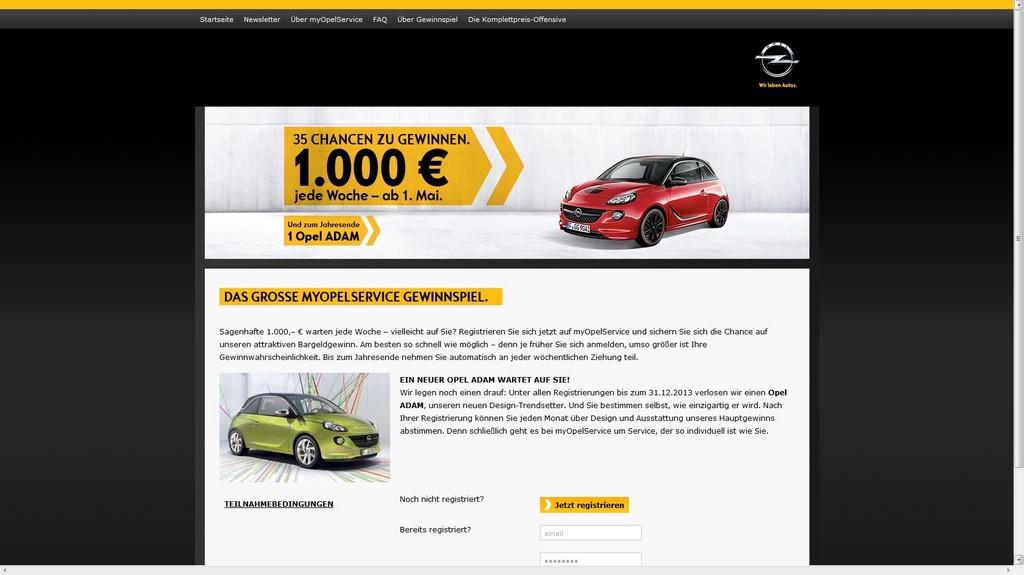Opel startet Serviceportal im Internet