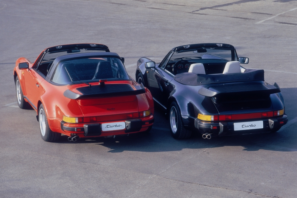 Porsche Targa Turbo und 911 Cabrio Turbo 1986