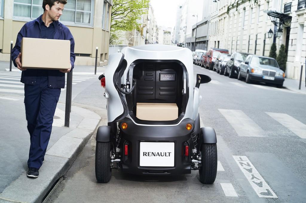 Renault Twizy für den kleinen Lieferverkehr