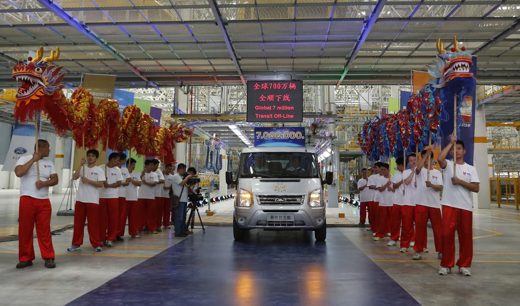 Siebenmillionster Ford Transit wurde in neuen Werk in China gebaut