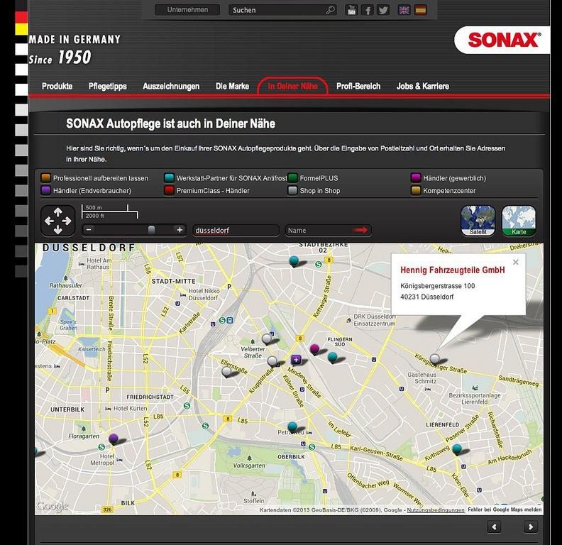 Sonax mit neuer Homepage