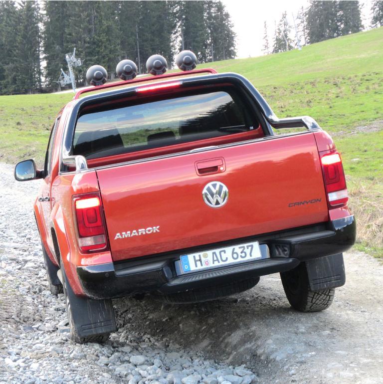 VW Amarok Canyon: Blick auf die Heckpartie.