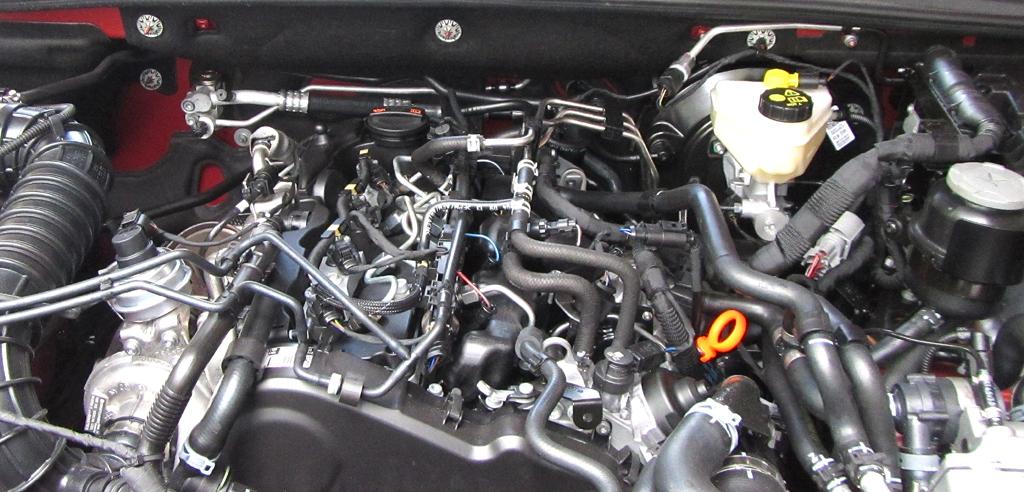 VW Amarok Canyon: Blick unter die Haube auf einen der beiden 2,0-Liter-Diesel.