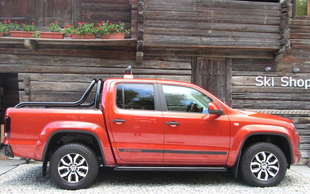 VW Amarok Canyon: Und so sieht der über fünf Meter lange Pickup von der Seite aus.