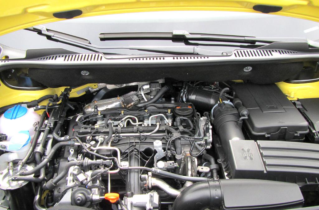 VW Cross Caddy: Blick unter die Haube. Zwei Benziner, fünf Diesel stehen zur Wahl.