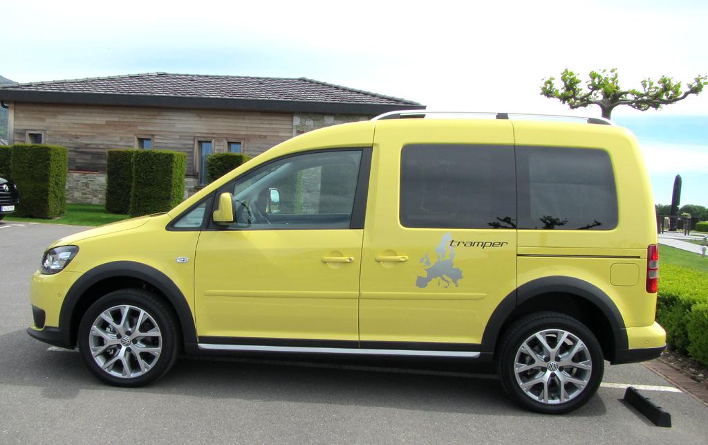 VW Cross Caddy: Und so sieht die neue Variante von der Seite aus.