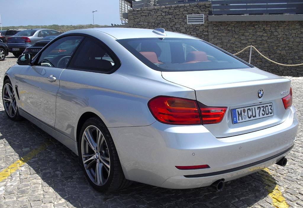 BMW 4er Coupé: Blick auf die Heckpartie.