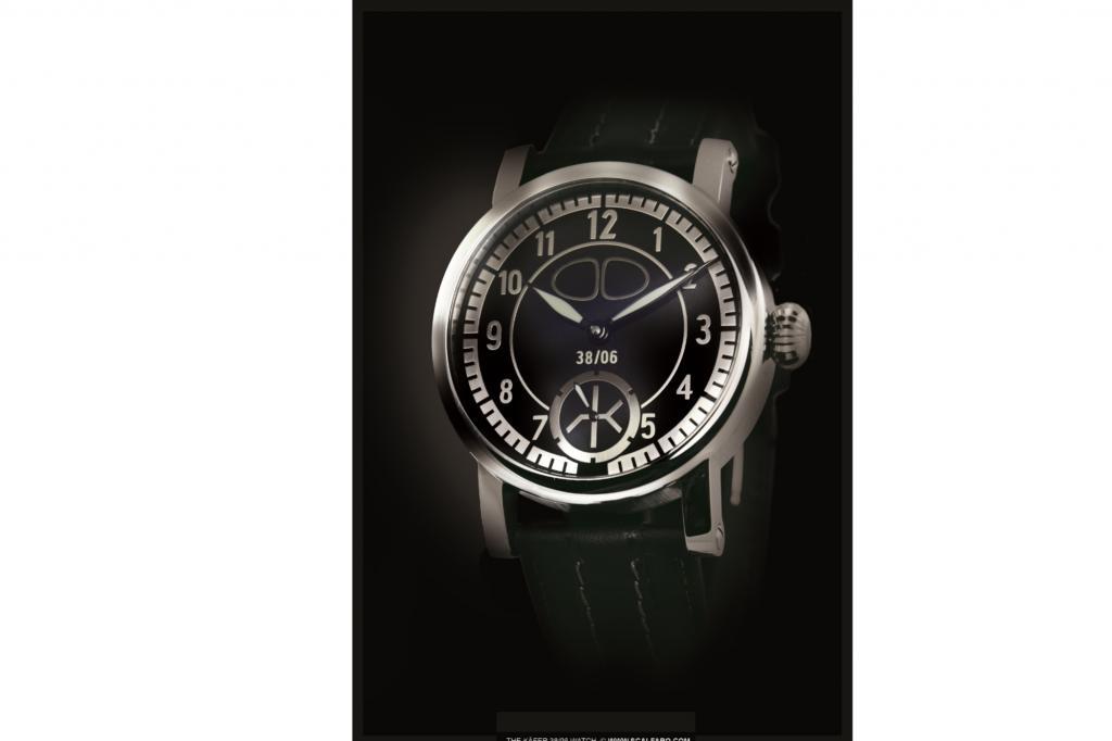Chronometer mit Oldtimer-Blech