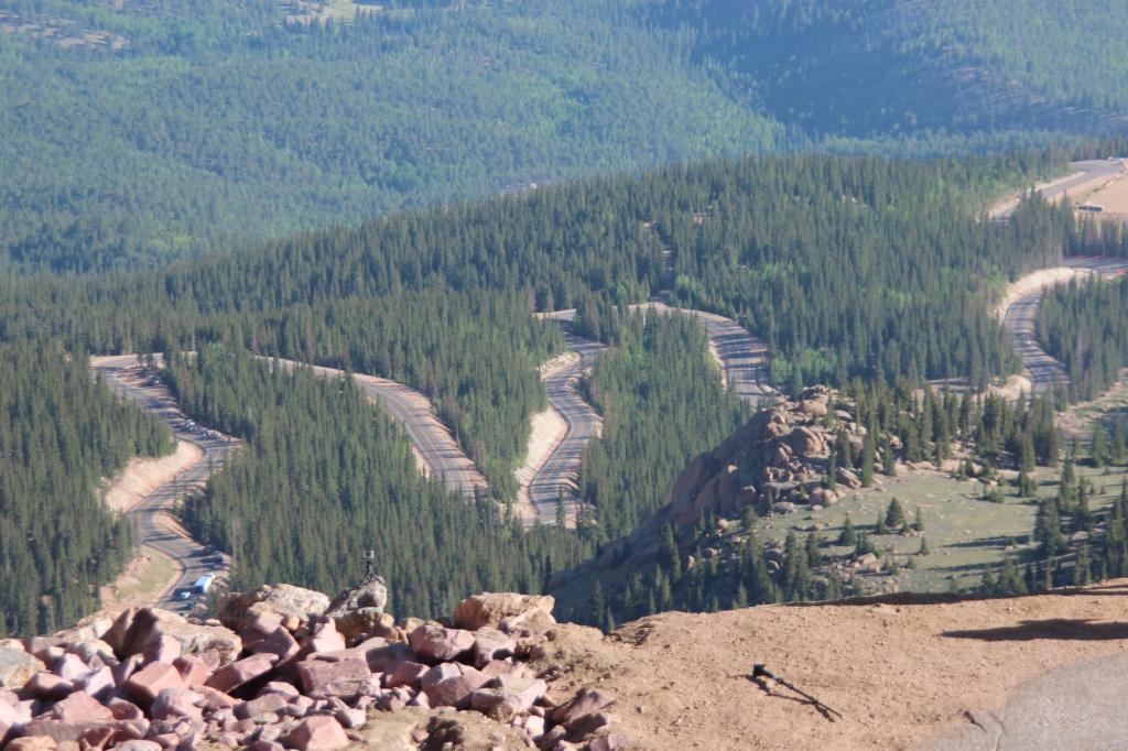 Dann startet der Hill Climb am Pikes Peak