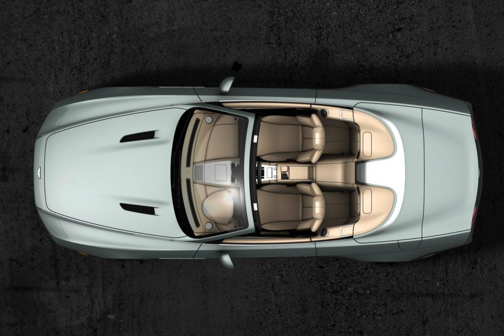 Der DB9 Spyder Zagato Centennial von oben