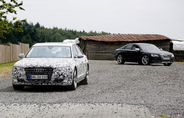 Erwischt: Erlkönig Audi A8 Facelift – Treffen der Generationen