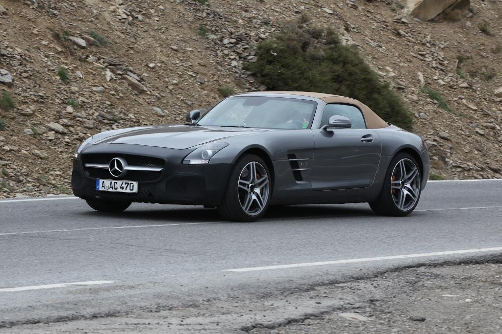 Erwischt: Erlkönig Mercedes SLS AMG GT Facelift – Facelift fürs Flaggschiff