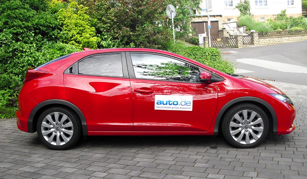 Honda Civic: Und so sieht das japanische Kompaktmodell von der Seite aus.