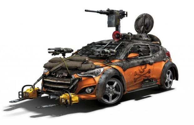 Hyundai Veloster Zombie Survival Machine  - Kettensägen gegen die Apokalypse