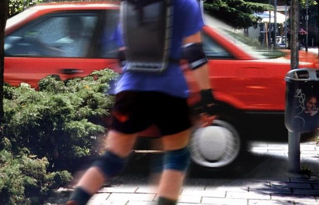Inline-Skater gehören auf den Gehweg