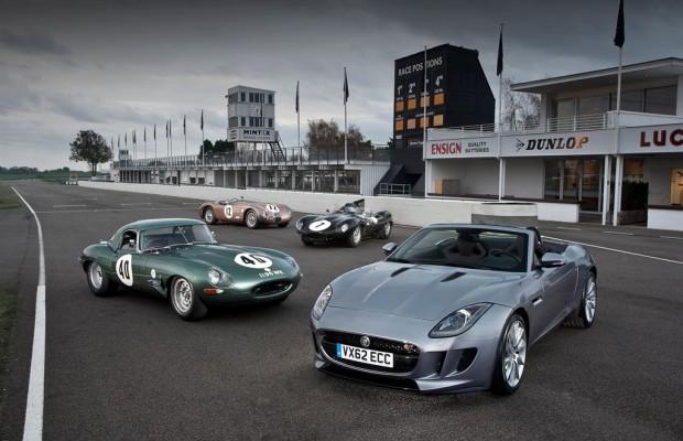 Jaguar nimmt am Oldtimer Grand Prix 2013 teil