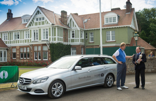 Mercedes-Benz seit 2011 'Official Car and Official Patron of The Open Championship'