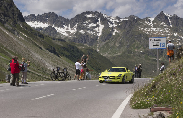 Mercedes-Benz stellt größte Elektroflotte bei der Silvretta