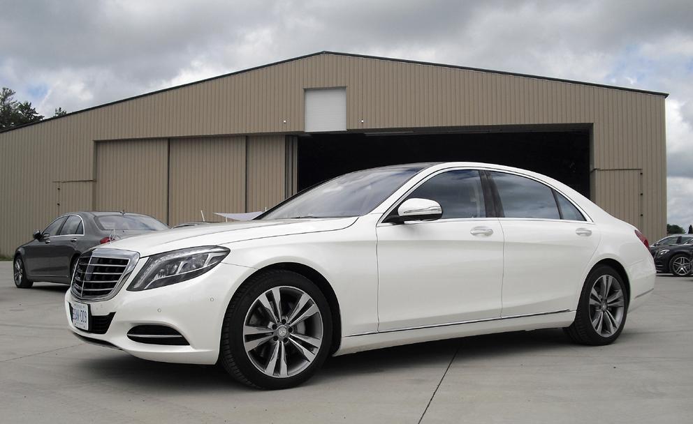 Mercedes S-Klasse: Und so sieht die Edelkarosse von der Seite aus.