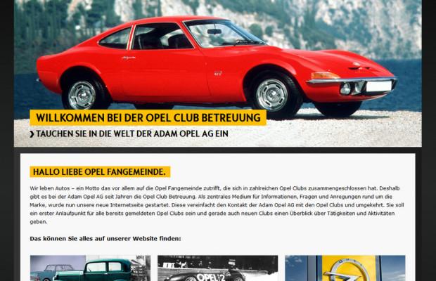 Opel startet Webseite für Clubs