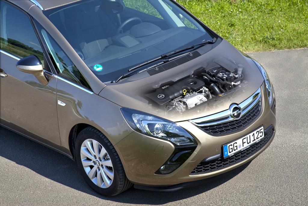 Opels Zafira Tourer hat den neuen 1,6-Liter-Turbodiesel schon unter der Haube. Foto: Opel