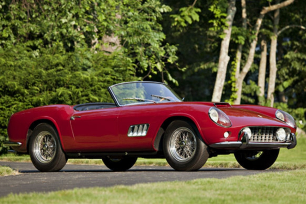 Platz 6: Ferrari 250GT California Spider LWB aus dem Jahr 1960, Auktionspreis 11,3 Mio Dollar