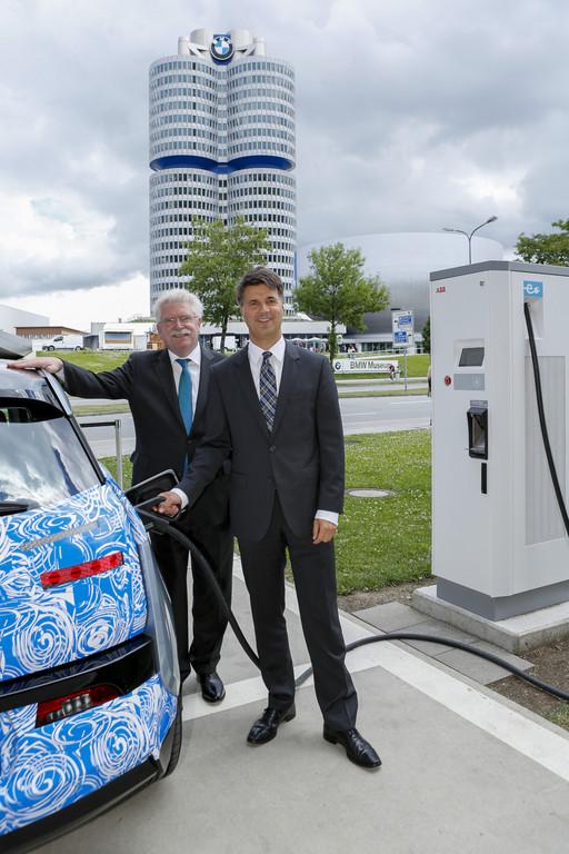 Schnell-Ladestation an der BMW-Welt