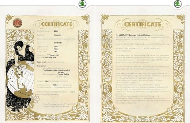 Skoda stellt Oldtimer-Zertifikate aus