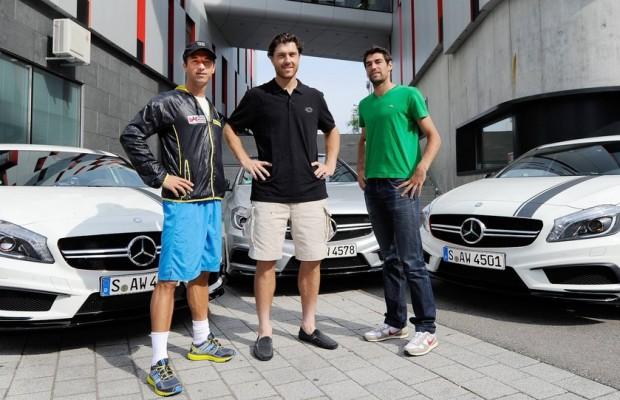 Tennisstars fahren Mercedes-Benz A45 AMG