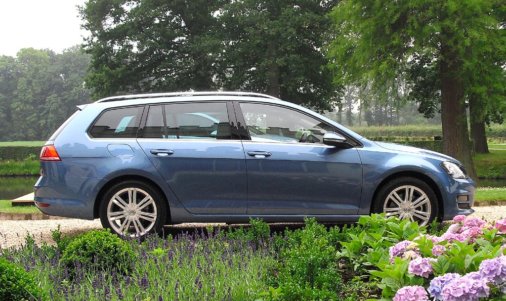 VW Golf Variant: Und so sieht der Kompaktkombi von der Seite aus.