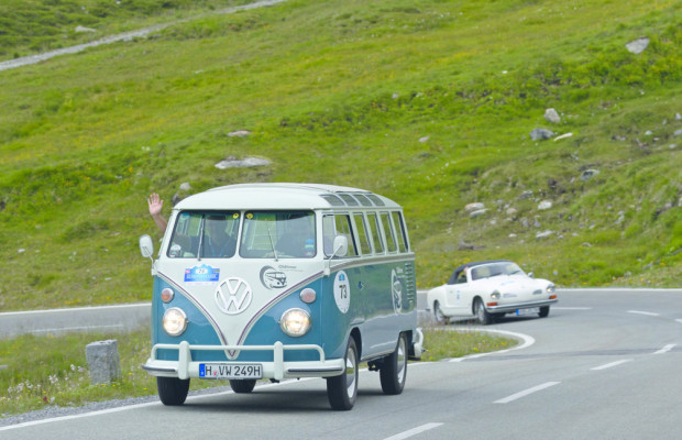 Volkswagen bei der Silvretta Classic Rallye