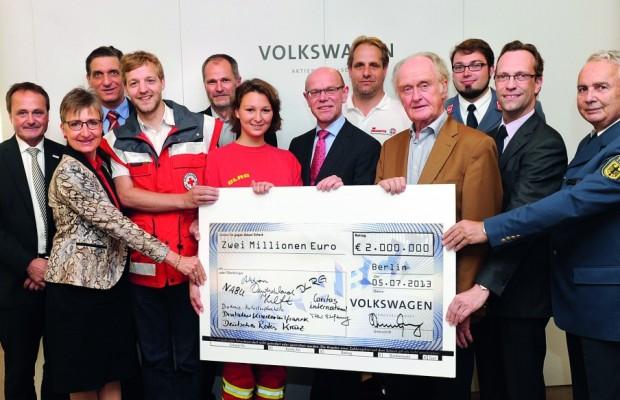Volkswagen hilft Flutopfern mit Millionen-Spenden