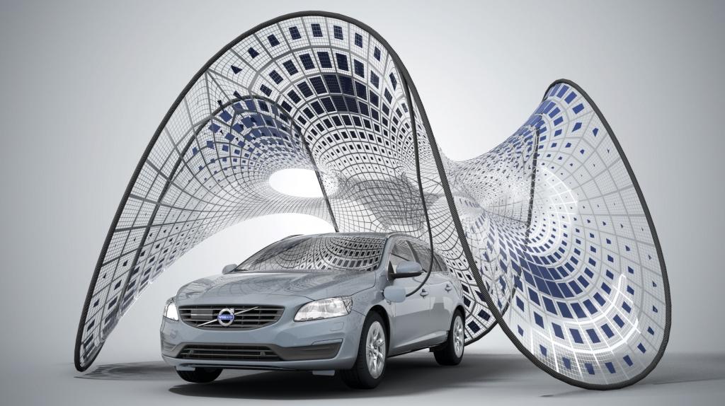 Volvo-Ladezelt: Sonnige Aussichten