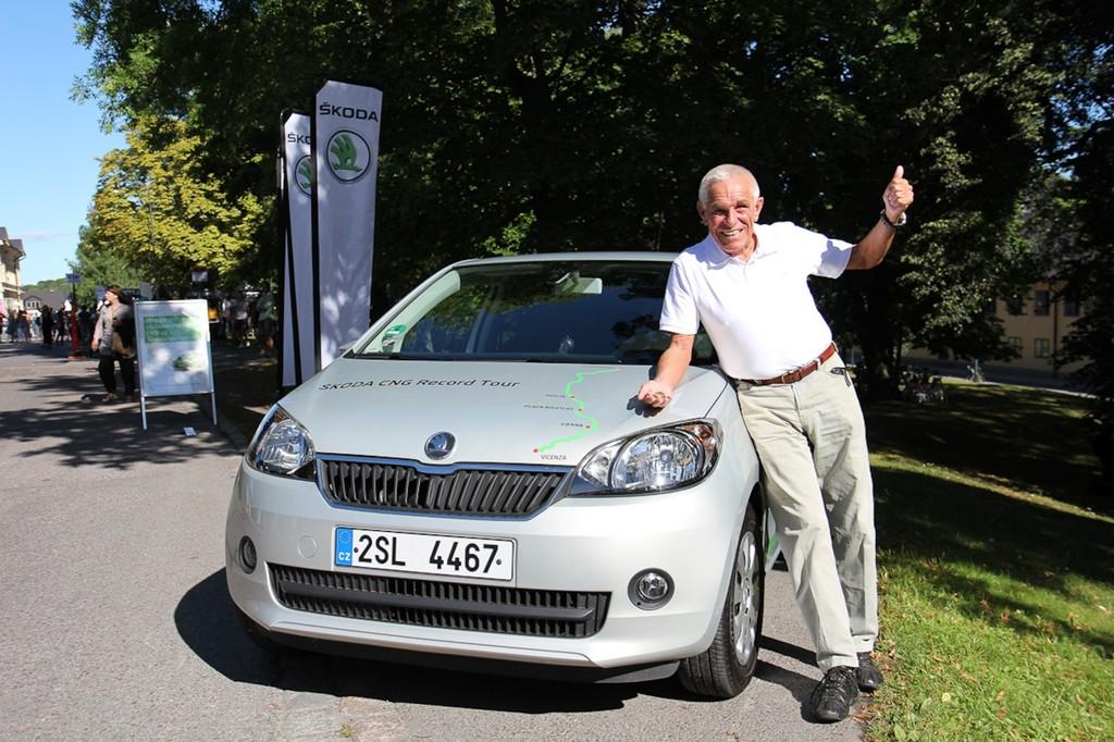 Škoda Citigo CNG legt für 81,24 Euro über 2600 Kilometer zurück