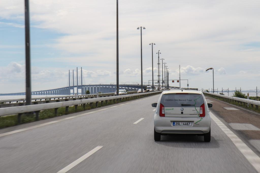 Škodas Citigo CNG-Tour: Von Krabbenbrötchen und Windschatten