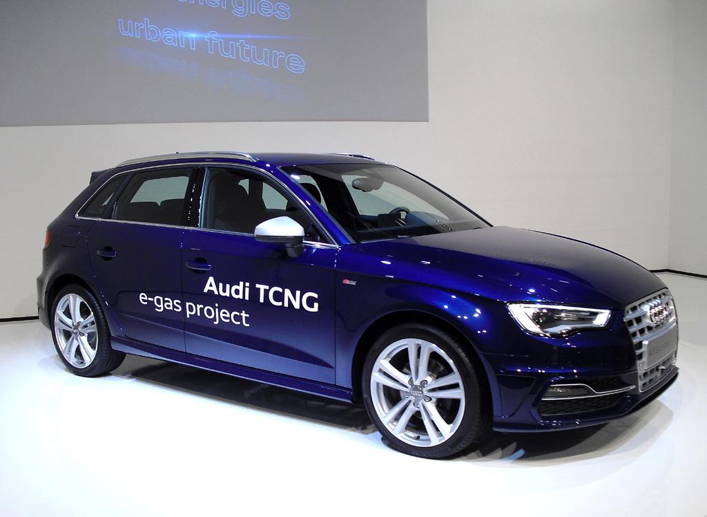 Als g-tron mit e-gas unterwegs: Audi A3 Sportback.
